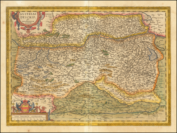 42-Austria Map By Abraham Ortelius