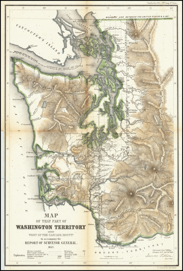 63-Washington Map By General Land Office