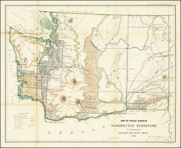 10-Washington Map By U.S. General Land Office
