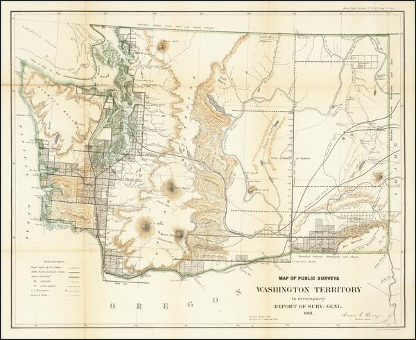 92-Washington Map By U.S. General Land Office