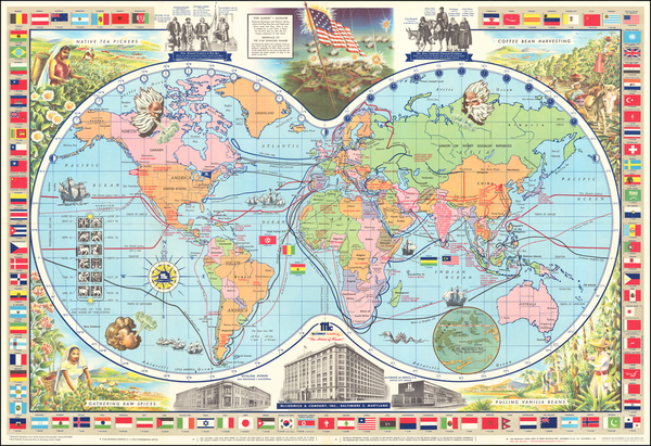 77-World and Pictorial Maps Map By McCormick & Company