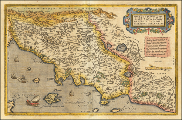 43-Northern Italy Map By Abraham Ortelius