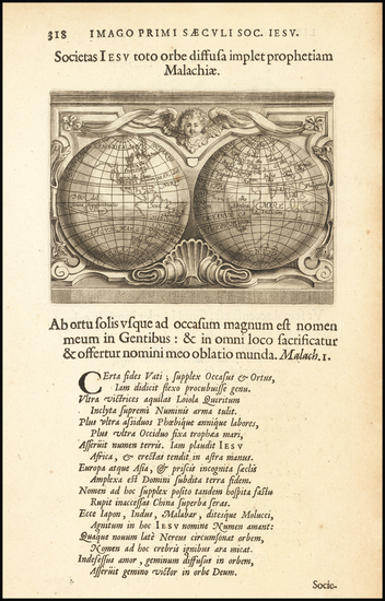 82-World and California as an Island Map By Cornelis Galle