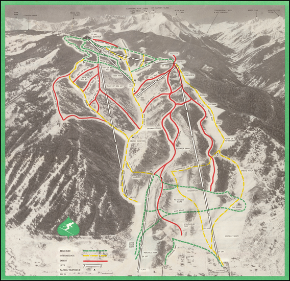 92-Colorado, Colorado and Pictorial Maps Map By Aspen Skiing Corporation