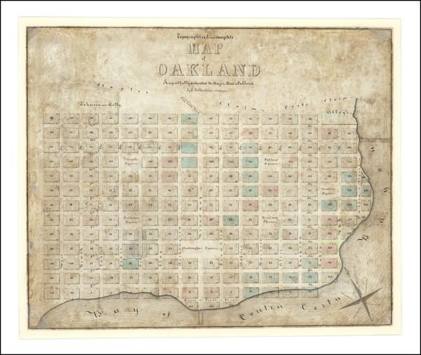 46-California and Other California Cities Map By Julius Kellersberger