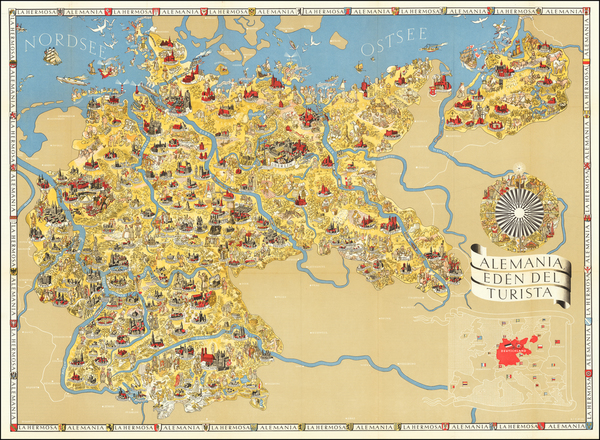 13-Germany and World War II Map By Riemer