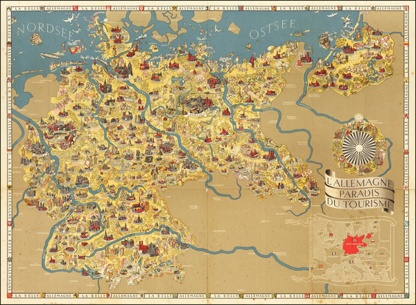 33-Germany, Pictorial Maps and World War II Map By Riemer