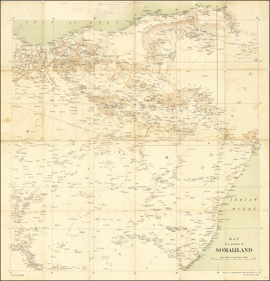 36-East Africa Map By Ordinance Survey Office