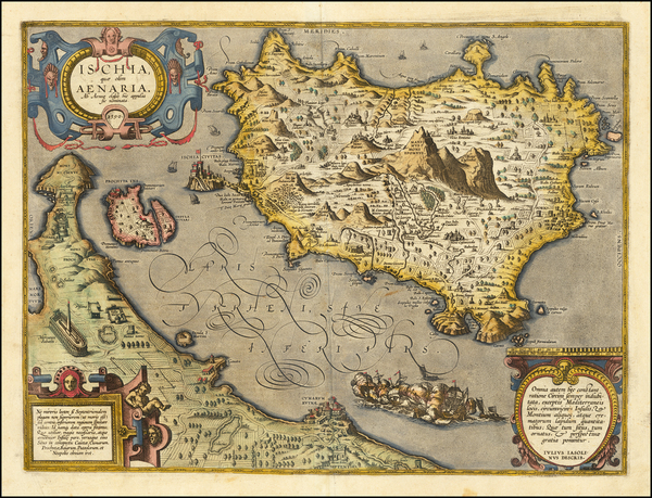 76-Southern Italy Map By Abraham Ortelius