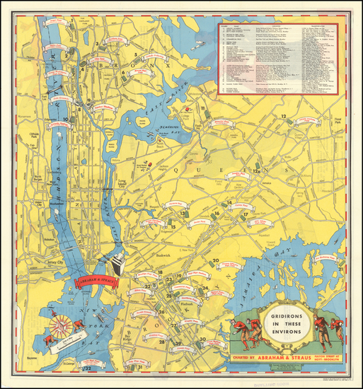 60-New York City and Pictorial Maps Map By Abraham & Straus
