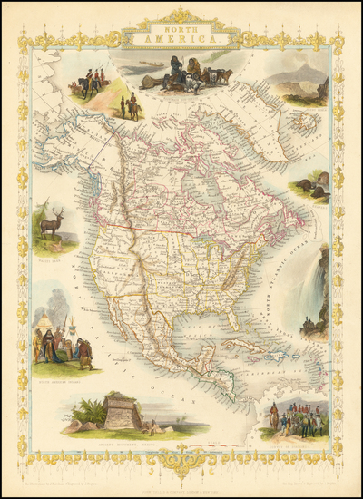 68-North America Map By John Tallis
