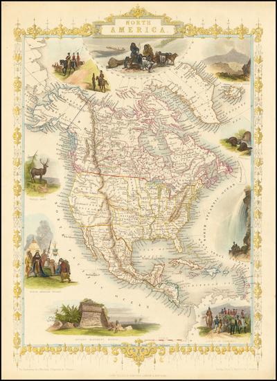 94-North America Map By John Tallis