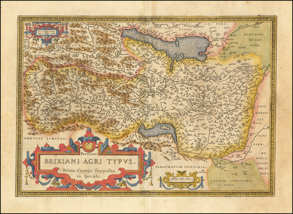 94-Northern Italy Map By Abraham Ortelius