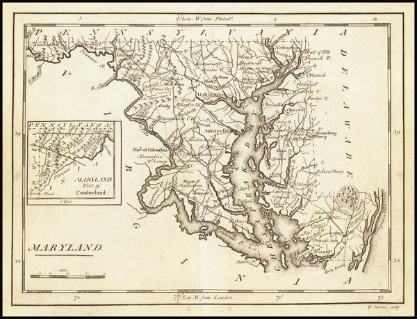 55- Map By Mathew Carey