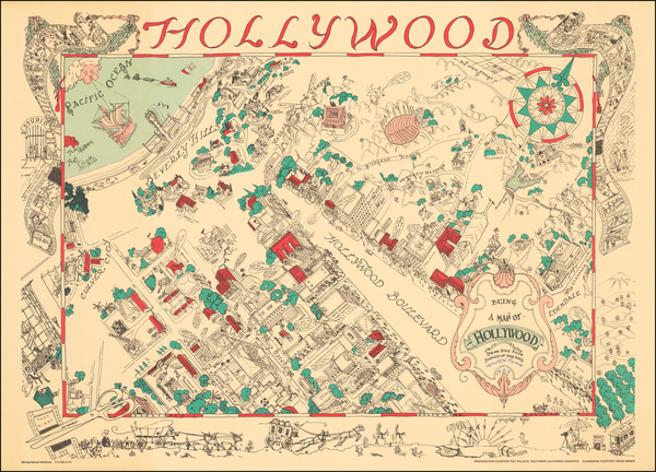 35-Pictorial Maps and Los Angeles Map By Harold W Grieve