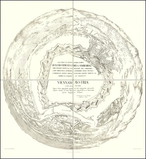 67-Austria Map By Heinrich Schmidt / Albert Camesina