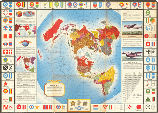 74-World and World War II Map By Alcoa Map Department