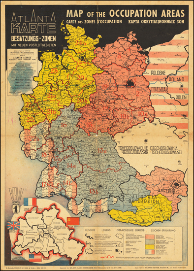 65-Europe, Germany, Poland, Czech Republic & Slovakia, Baltic Countries and World War II Map B