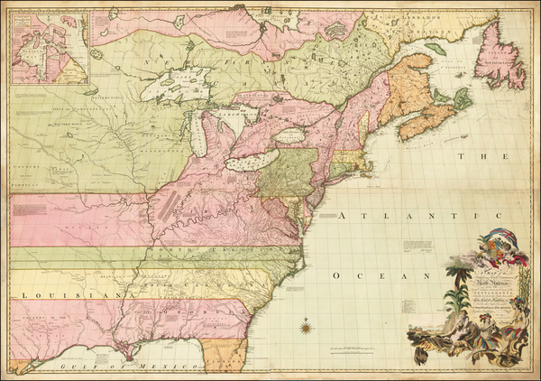United States, New England, Mid-Atlantic, Southeast, Midwest, North America and Canada Map By John Mitchell