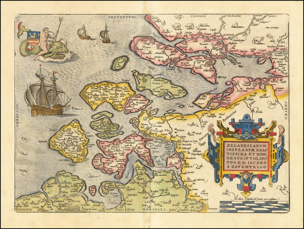 18-Netherlands Map By Abraham Ortelius