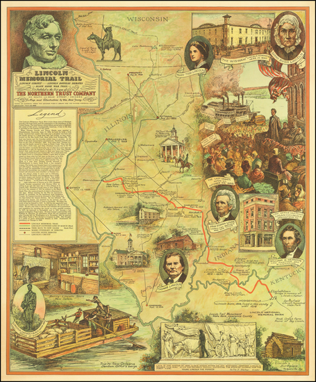 59-Illinois and Indiana Map By William Mark Young