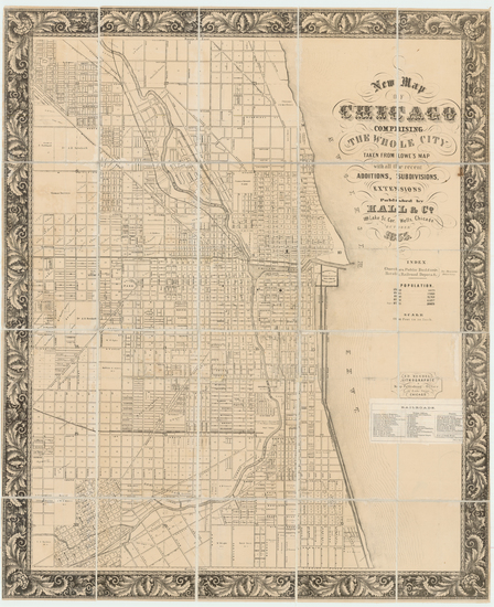 71-Illinois and Chicago Map By Hall & Co.