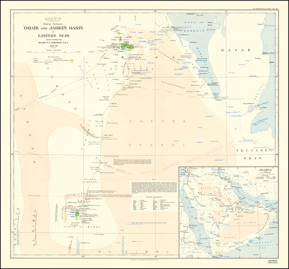 6-Middle East and Arabian Peninsula Map By Robert Ernest Cheeseman