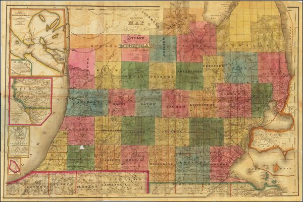 33-Michigan Map By John Farmer
