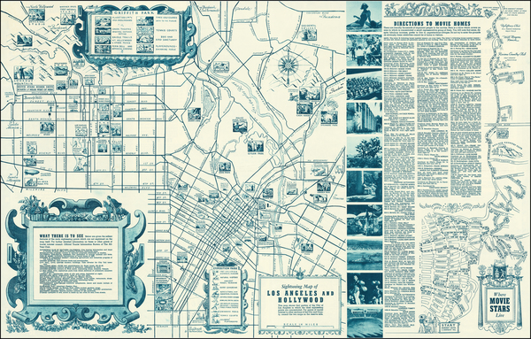 57-Los Angeles Map By The All-Year Club of Southern California