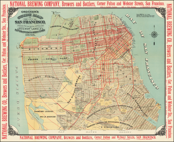 97-San Francisco Map By H.S. Crocker & Co.