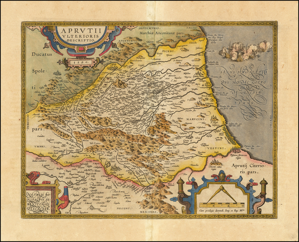 36-Northern Italy and Southern Italy Map By Abraham Ortelius