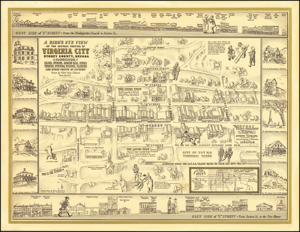 77-Nevada and Pictorial Maps Map By