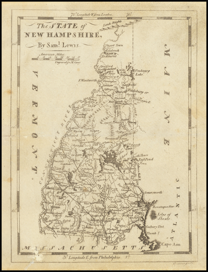 84-New Hampshire Map By