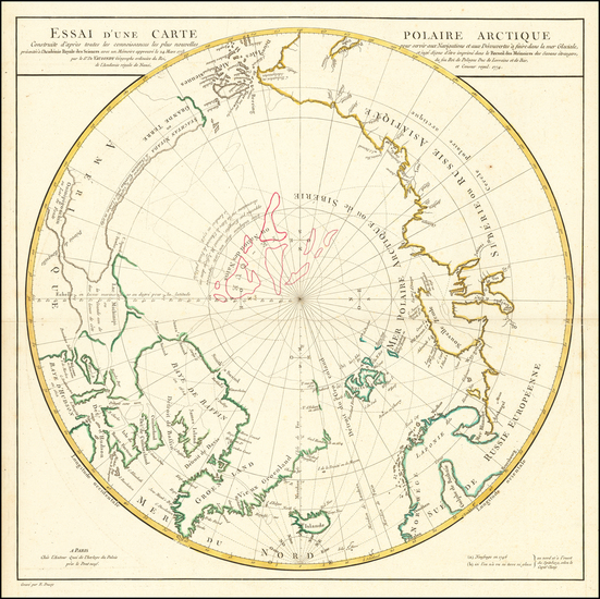 67-Polar Maps, Alaska, Canada, Russia, Scandinavia and Russia in Asia Map By Didier Robert de Vaug