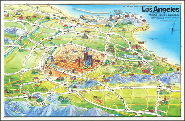 65-Los Angeles Map By Swaena Lavelle