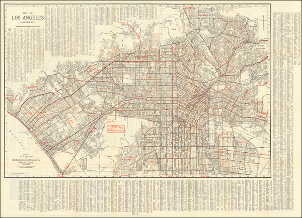24-Los Angeles Map By E.F. Hill