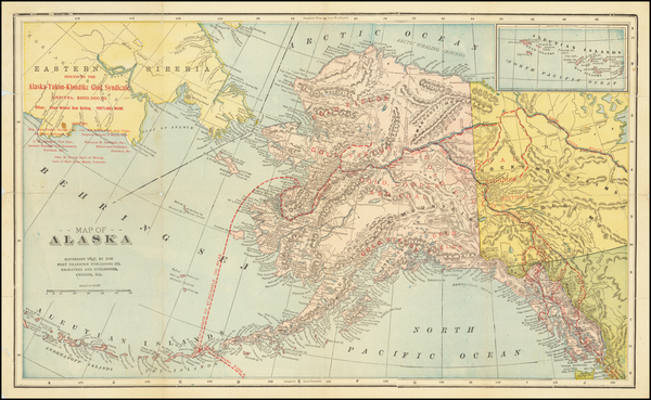 Alaska and Canada Map By Alaska-Yukon-Klondike Gold Syndicate