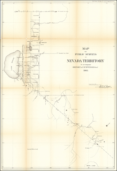 80-Nevada Map By U.S. General Land Office