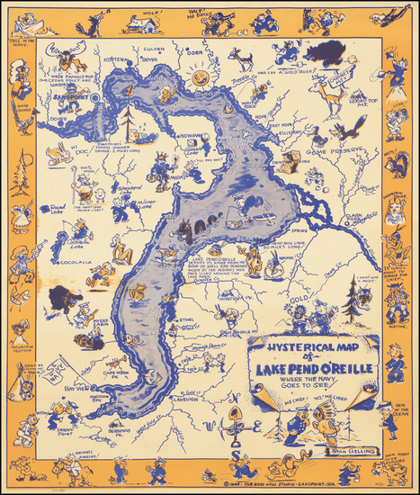 Idaho and Pictorial Maps Map By Stan Gelling