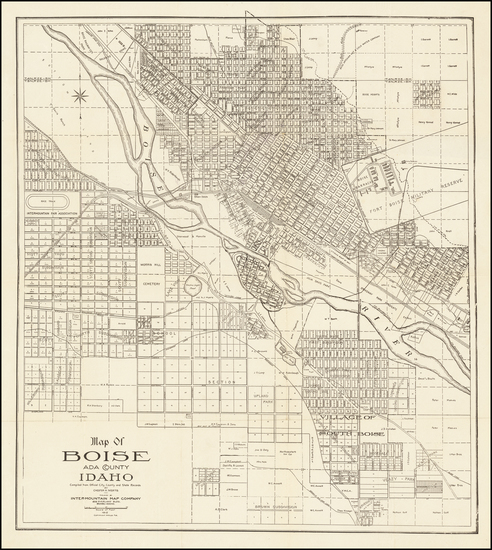 39-Idaho Map By Chester Werts