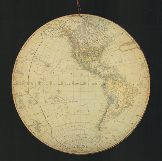 66-World Map By International Globe Company