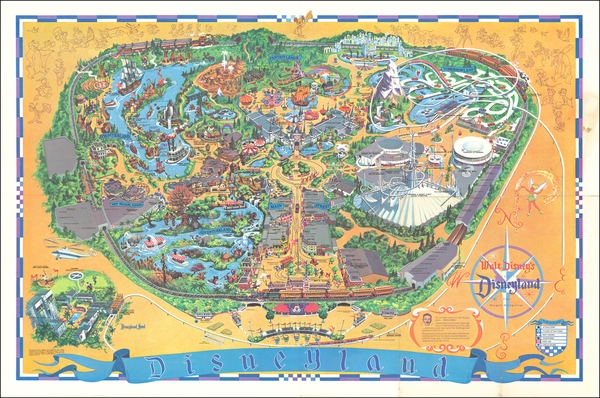 54-Pictorial Maps, California and Other California Cities Map By Walt Disney Productions