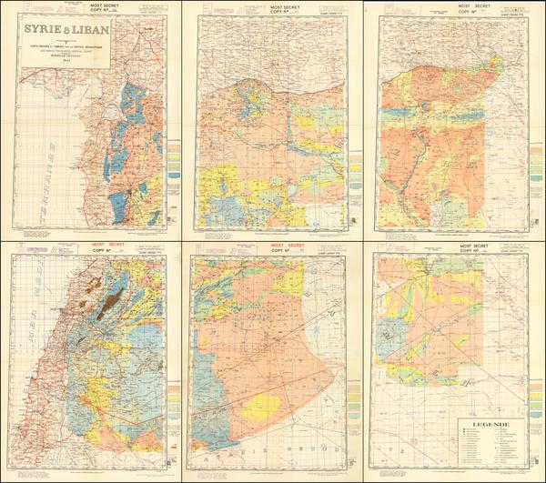 38-Middle East and World War II Map By Service Géographique des  Forces Françaises L