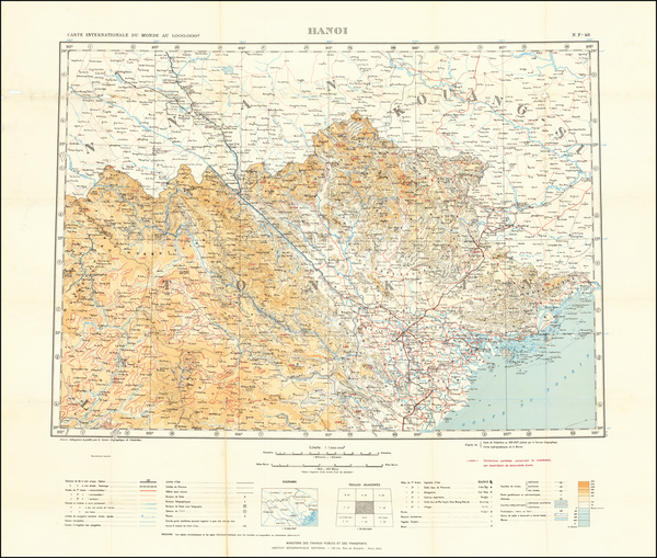 13-Thailand, Cambodia, Vietnam Map By Ministere des Travaux Publics