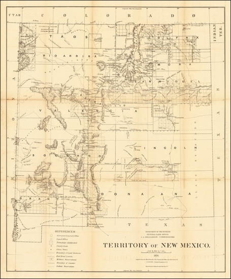 73-New Mexico Map By General Land Office