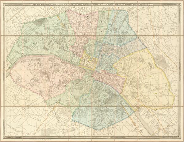 1-Paris Map By Xavier Girard