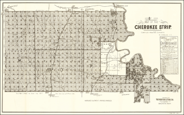100-Plains Map By Western Lithographing Co.