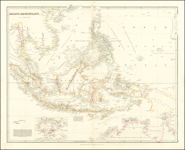 93-Southeast Asia, Philippines, Singapore, Indonesia and Malaysia Map By John Arrowsmith