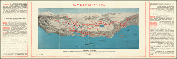 55-Pictorial Maps and California Map By Southern Pacific Company