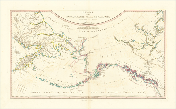 5-Alaska, Canada and Russia in Asia Map By William Faden